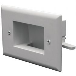 Datacomm Electronics Wht Recessed Cble Plate