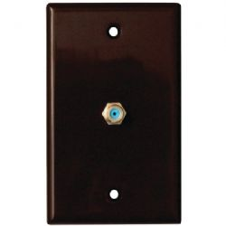 Datacomm Electronics Coax Wall Plate Brown