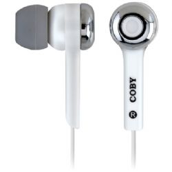 Coby Isolation Earphone Wht