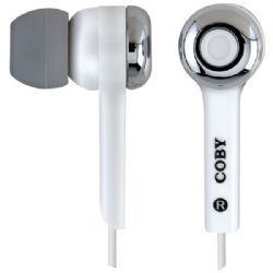 Coby Isolation Earphone White