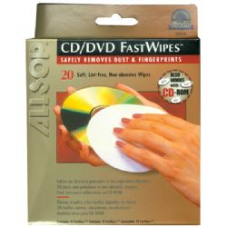 Allsop 20in Cd Fastwipes 20pk