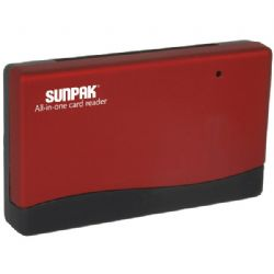 Sunpak All In One Card Readr Red