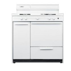 Summit WNM430P 36 inch Wide White Gas Range Oven