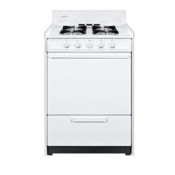Summit WNM6107F Gas Range, Slim 24 inch Oven