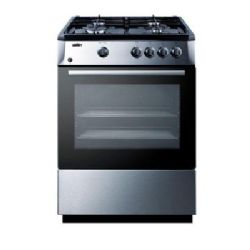 Summit PRO24G 24in Stainless Steel Gas Sealed Burner Range Oven