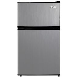 SPT RF-314SS Double Door Refrigerator, Stainless Steel, 3.1 Cubic Feet