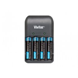 Vivitar BC-171 AA/AAA Battery Charger with 4AAA NiMH Batteries