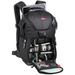 Vivitar DKS-20 Photo/SLR/Laptop Sling Backpack, Medium (19 x 11.5 x 8in, Black)
