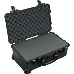 Pelican 1510 Carry On Case with Foam Set (Black)