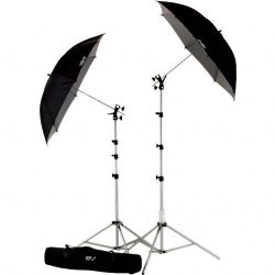 Smith-Victor UK2 Umbrella Kit with RS8 Stands, 45BW Umbrellas