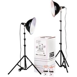 Smith-Victor KT1000U 2-Light 1000 Watt With Umbrella Kit
