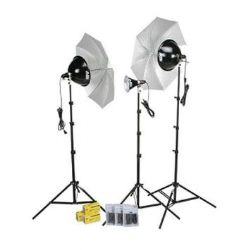 Smith-Victor KT800U 3-Light 1250W With Umbrellas & Dimmers