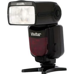Vivitar DF-683 Flash Radio Wireless TTL Power Zoom for Canon Cameras